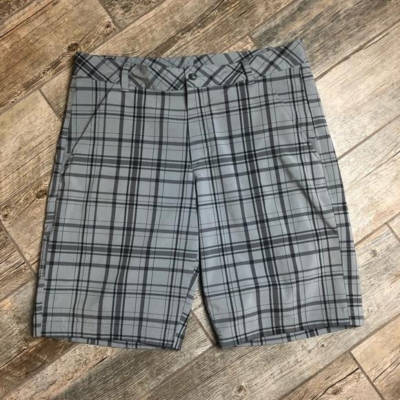 Fila Other - FILA Sport Golf Shorts 34 Mens Grey Plaid